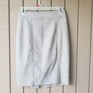 WHBM light grey pencil skirt